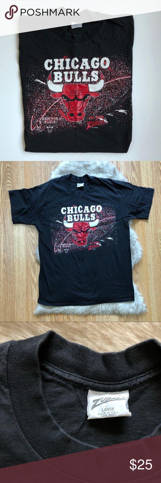 90s Chicago Bulls Bob Lanier T Shirt By Zubaz Sz L Vintage Shirts Clothes Design Chicago Bulls