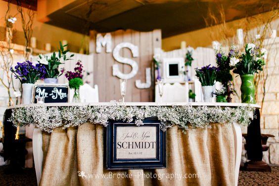 Kate & Company Wedding, Chandler, AZ   Reception at the Ocotillo Golf Resort   Photography: Brooke Photography   Sweetheart table for Megan & Jack
