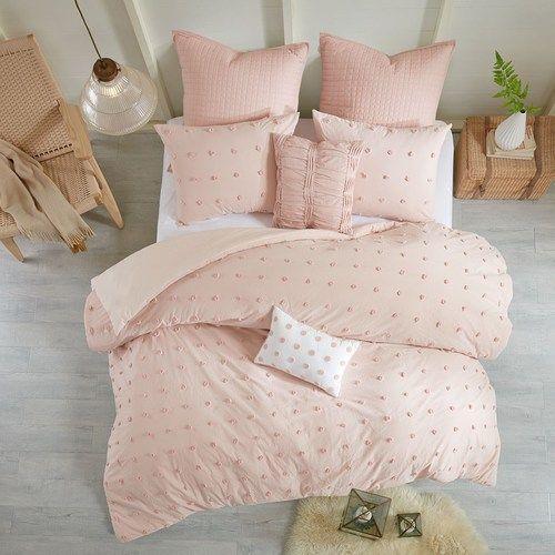 Blush Pink Pom Pom Duvet Set American Home Duvet Cover Sets