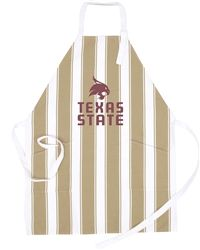 Our Texas State University Tailgate Apron with vintage look and classic stripes is a new fan favorite. USA made and machine washable, we've added two front pockets, making it not only great looking, but functional as well! One size fits all.