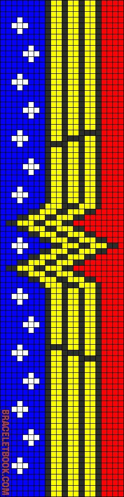 Wonder woman friendship bracelet pattern number #8382 - For more patterns and tutorials visit our web or the app!