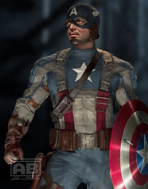 Clark Gable as Captain America. Lots of great classic star mash-ups.
