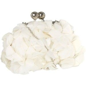 Ivory ruffle frame bag