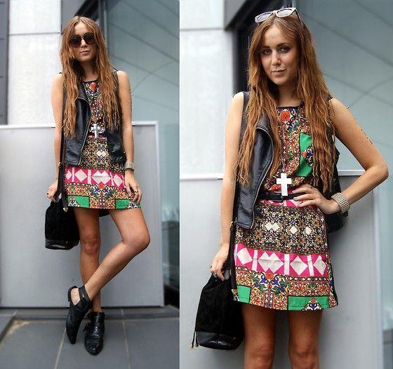 August Street Dress, Cotton On Gilet, Asos Bag, Choies Shoes   August Street (by Nicola Kirkbride)   LOOKBOOK.nu