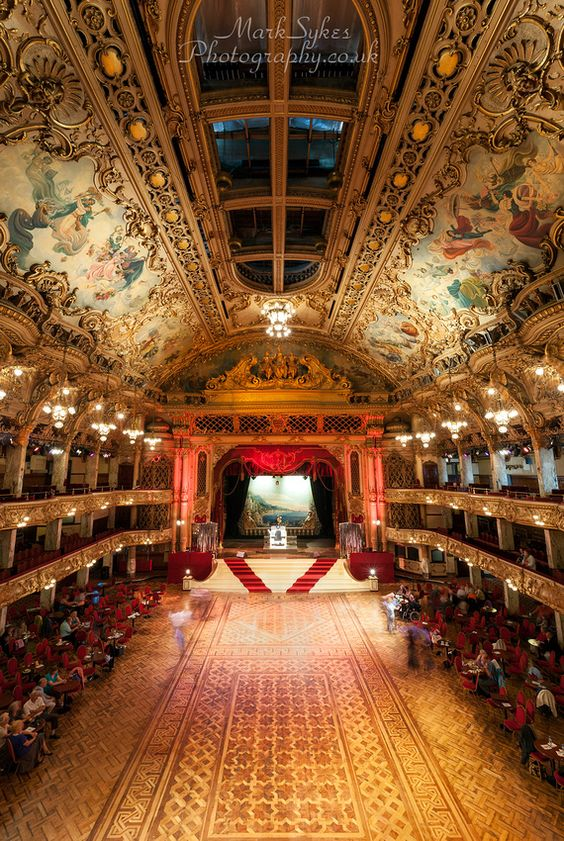 Blackpool Tower Ballroom.England