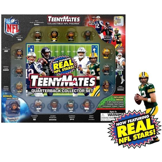 Nfl Teenymates Football Series 6 Quarterbacks 14 Pack Gift Set Nfl Quarterback Nfl Coaches