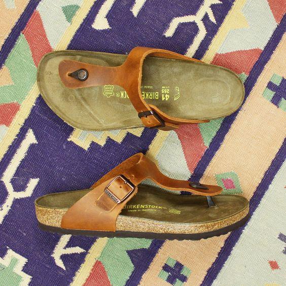 Birkenstock Gt Gizeh Sandal Antique Brown Leather At New