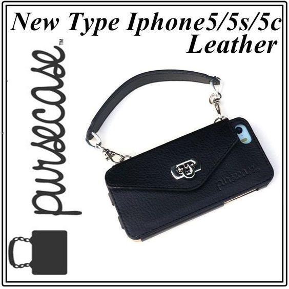 外せる持ちて レザー pursecase iphone 5 5s 5c 共通 ケース 即納