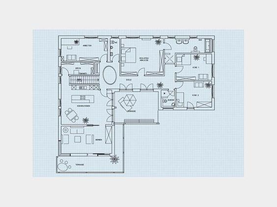 Grundriss eg bungalow klassisch einfamilienhaus von for Einfamilienhaus klassisch