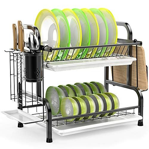 Dish Drying Rack Ispecle 304 Stainless Steel 2 Tier Dish Rack In