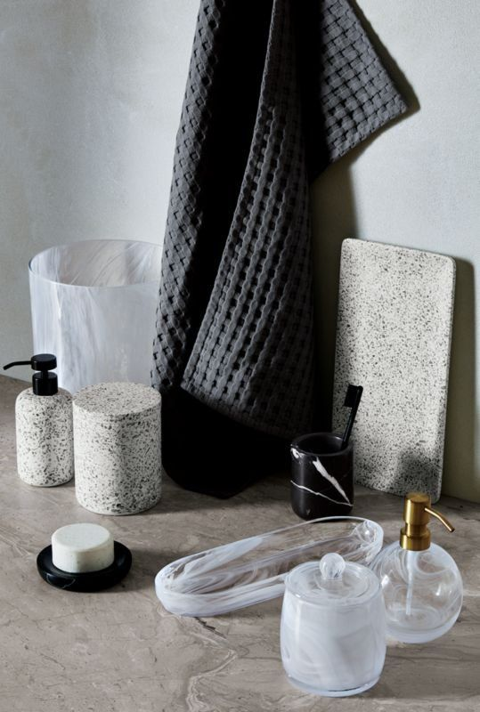 Maximal Marble Terrazzo Bath Accessories Go Back To Basics With