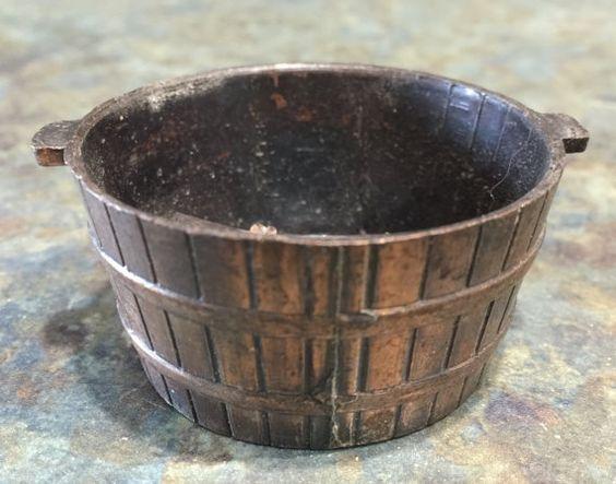 Vintage Brass Cast Wash Tub Pencil Sharpener by LeftoverStuff