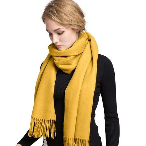 a girl & Lady &Women with real class,winter scarves Popular solid color Cashmere Scarf & Pashmina luxury brand scarf women 2016