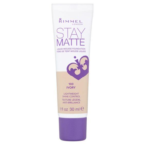 Amazon.com : RIMMEL LONDON Stay Matte Liquid Mousse Foundation - Ivory : Foundation Makeup : Beauty