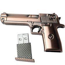 8 GB Flash Drive PISTOL Memory Stick METAL Gun Thumb USB 2.0 NEW Cool