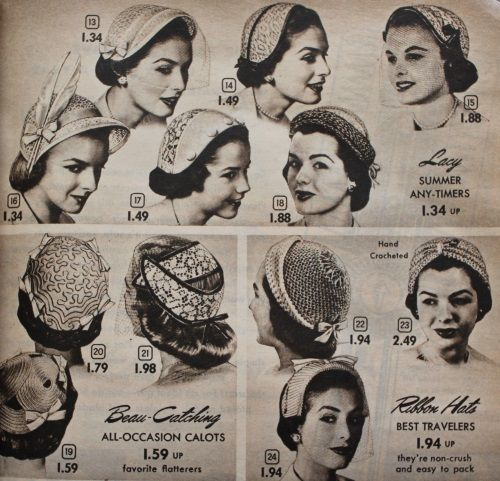 1950s Womens Hats By Style Historical Hats Hats For Women Hats Vintage