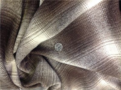 Wool check Fabric - wool mix fabric Thick and blanket like. Fantastic Wool mix Fabric, thick, fluffy and lovely £8.50 pm