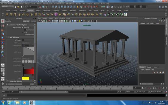Templo 3D Maya