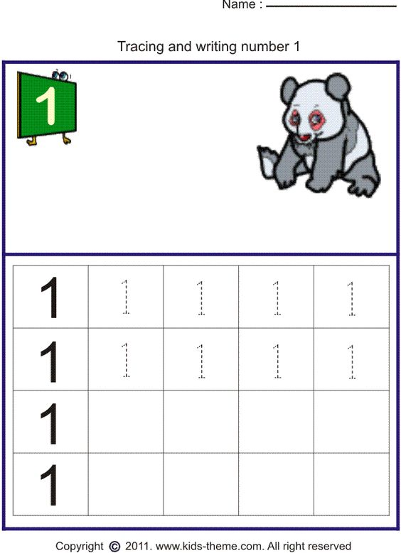 free preschool worksheets – Number Practice Worksheets for Kindergarten