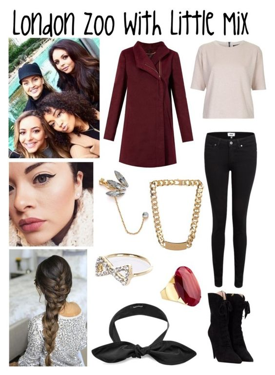 """London Zoo With Little Mix"" by famouskike1616 ❤ liked on Polyvore featuring mode, Topshop, Paige Denim, Miu Miu, Federica Moretti, Adia Kibur, Balenciaga, River Island en Monsoon"