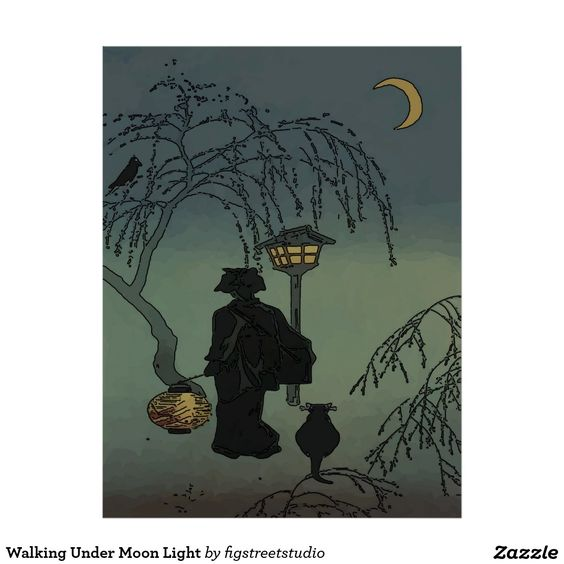 Walking Under Moon Light Poster Photo Posters Poster Art