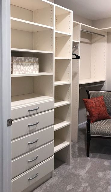 One Simple Wall And You Have Shelving Hanging Bars And Ample