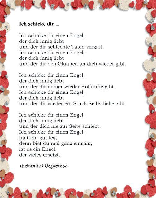 Aus Dem Buch Gedichte Engel Band 4 Ich Schicke Dir