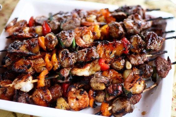 Surf & Turf Kabobs: Beef Recipes, Food Recipes, 29 Recipes, Food And Drinks, Eats N Drinks, Kabob Recipes, Recipes Dinner, Cooking Food Ideas
