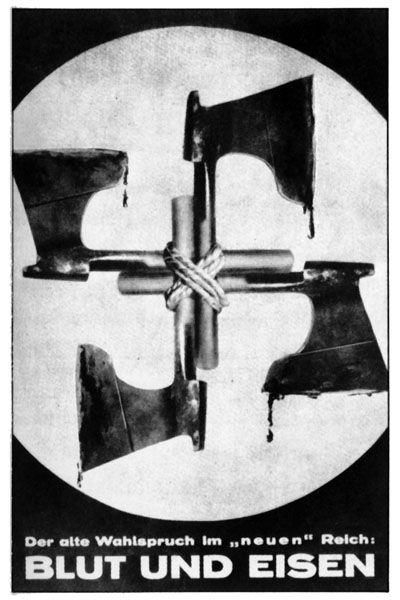 Blut und eisen. Cartell satíric .John Heartfield 1936
