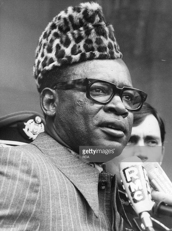 1977: Mobutu Sese Seko, previously Joseph Desire Mobutu, dictator and President of Zaire in France.