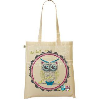 my-tagshirt - Organic Shopper Bag - Eule - 100% Bio -...