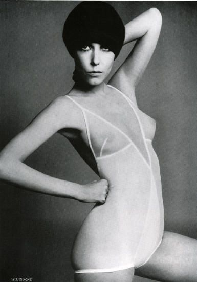 rudi gernreich....... now his underwear line was very innovative for the 60's...with the nude-look bra ( luckily I found a much cheaper knockoff, which I wore and loved)...