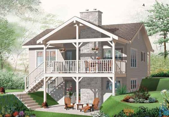 Walk out daylight basement house plan house plans for House plans with daylight walkout basement