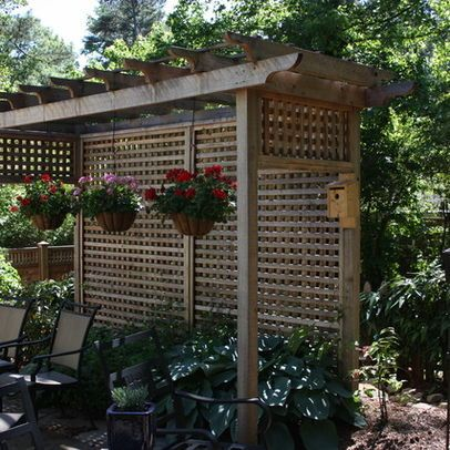 Privacy screens screen design and screens on pinterest for Backyard patio privacy ideas
