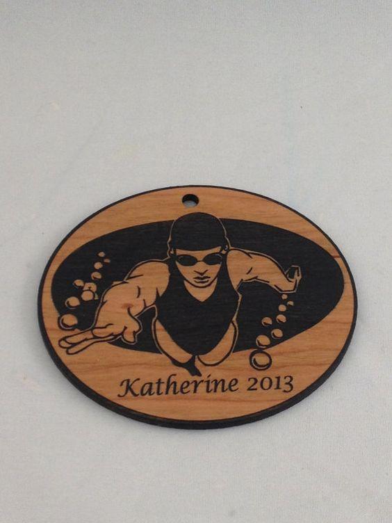 Custom Personalized Swimmer Christmas Ornament | Christmas ...