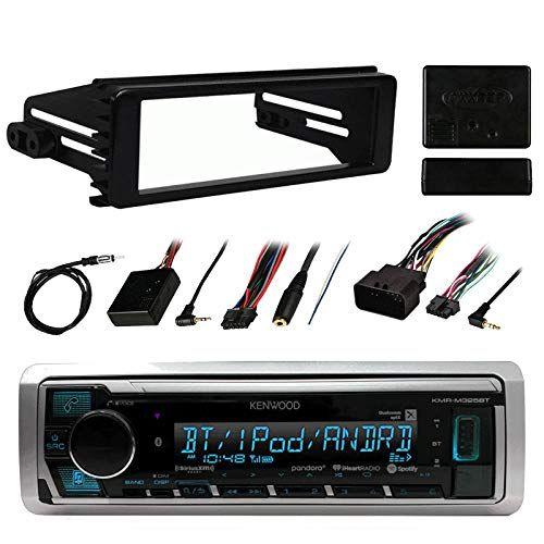 1998-2013 Harley Davidson Single-DIN Stereo Installation Kit Antenna Metra Steering Wheel Interface Kenwood Marine Digital Media Bluetooth Receiver 40