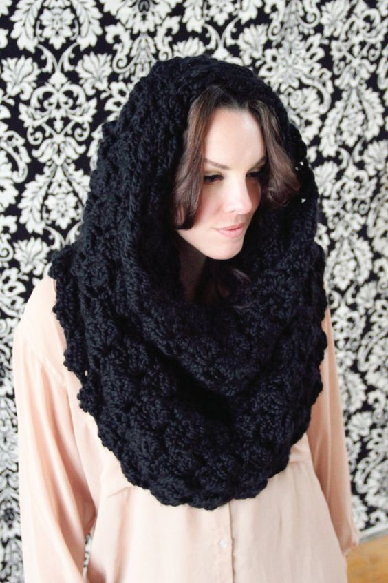 Free Crochet Convertible Cowl Pattern : Cowl Chunky CROCHET PATTERN Hooded 3 in 1 Convertible Cowl ...