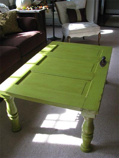 oh how I love old doors!!!!!!: Furniture Idea, Door Coffee Table