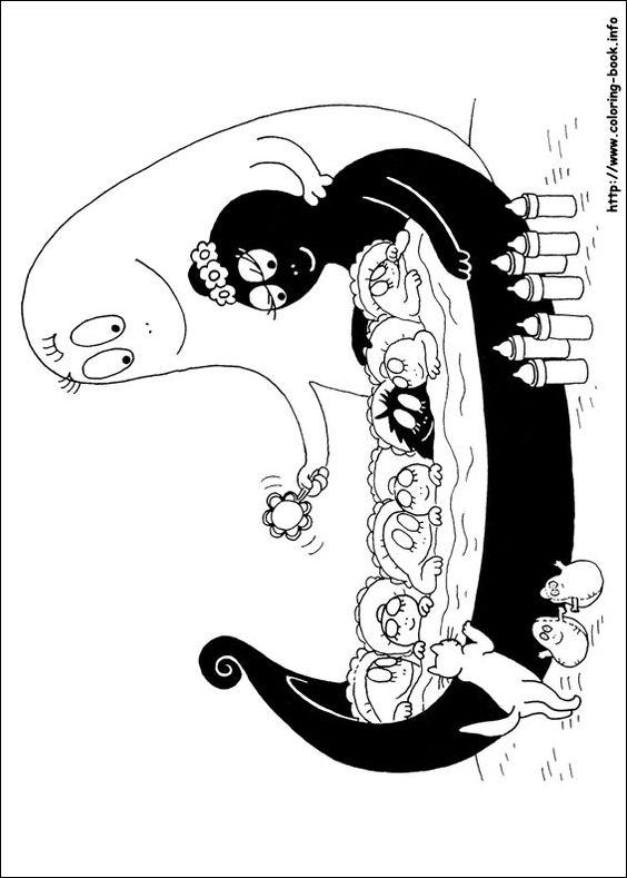 Barbapapa coloring picture | ברבאבא | Pinterest | Färben, Php und ...