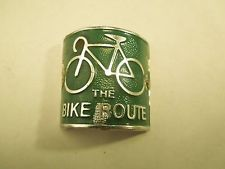 Vintage The Bike Route Bicycle Head Badge Emblem Bicycle