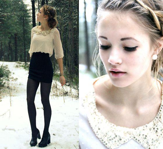 <3 blouse collar