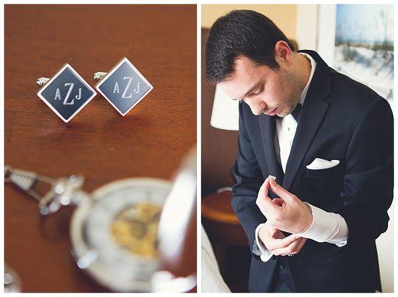 Custom cufflinks. Photo: Horn Photography & Design