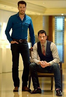 Contractor Jonathan Scott (left) and real estate agent Drew Scott, American twins known collectively as the Property Brothers after their hit home-renovation show of the same name. They made it to People magazine's annual Sexiest Man Alive list in 2013. Photo: Daniel Neo/The Straits Times