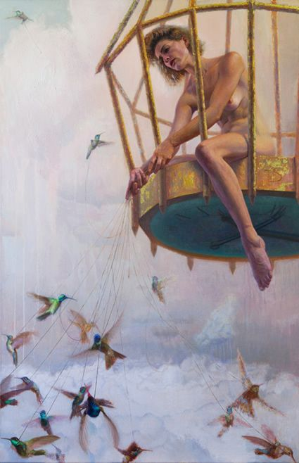 Daniel Bilmes.... Reminds me of those old chain swing merry-go-'round rides from the fair...