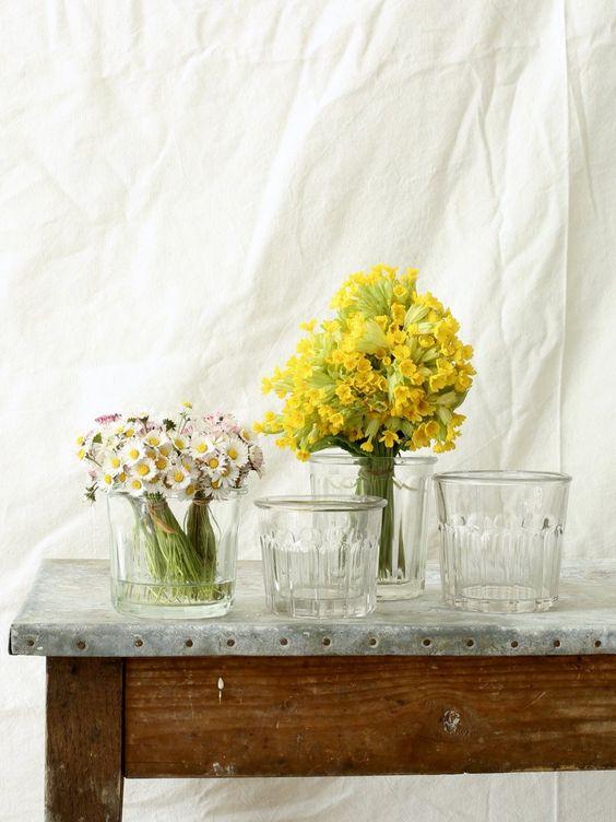 French Vintage Glass Jam Jar Set