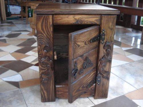 Massive handgemachte Holzkiste Nachttisch Holz Aufbewahrung Antik Dekoration/GR1 | eBay