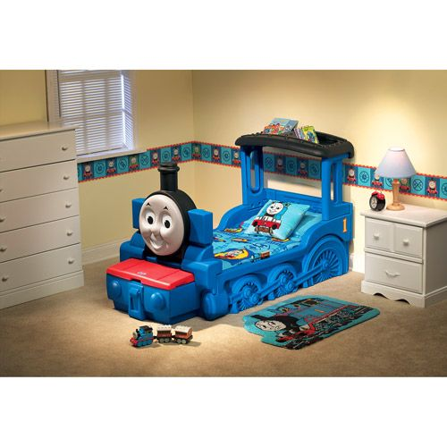 Thomas Amp Friends Train Engine Toddler Bed With Storage
