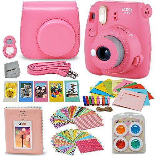 Fujifilm Instax Mini 9 Instant Fuji Camera Flamingo Pink