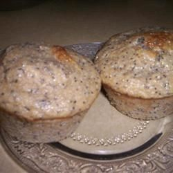 Low-Fat Lemon Poppy Seed Muffins