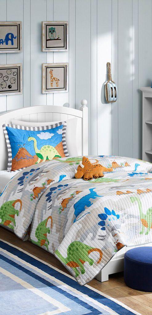 Twin Dinosaur Bedding Dinosaur Theme Bedrooms In 2020 Dinosaur Bedding Dinosaur Theme Bedroom Dinosaur Bedding Set